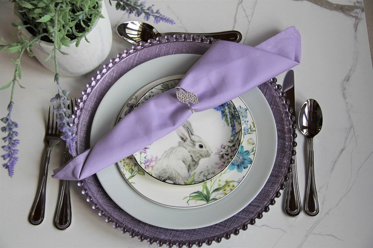 Tableware Rentals Cincinnati Tri-State Area Lavender Fields Place Setting